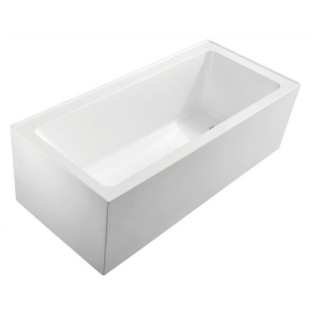 square corner freestanding bath