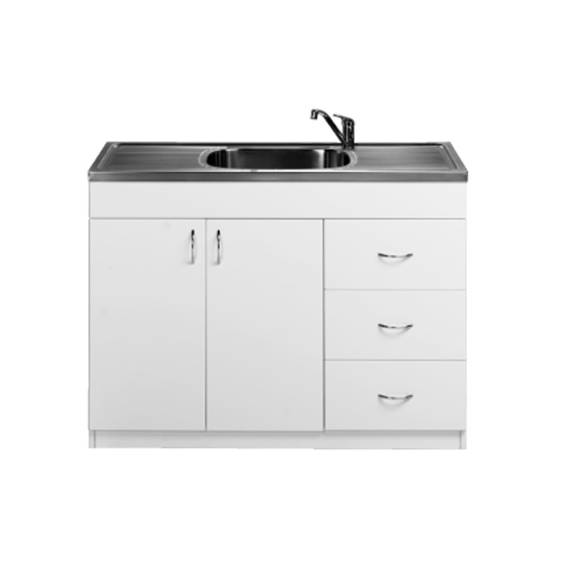 1200mm laundry cabinet stainless sink backorder feb2018