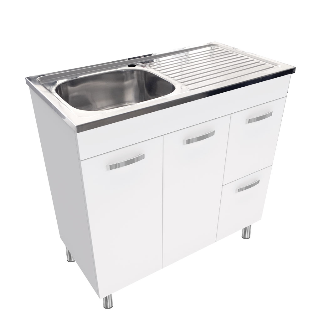 Citi Laundry Sink Cabinet 890x460x902mm Builders Discount Warehouse