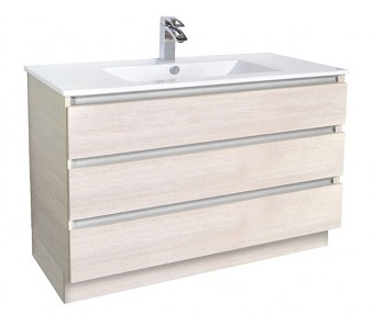 glacier all drawer trio vanities