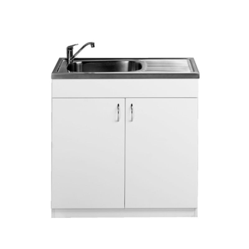 900mm Laundry Cabinet, Stainless Sink U2013 BACKORDER FEB18