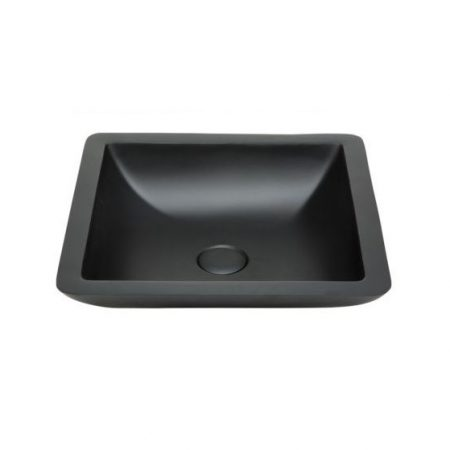 tessa 420 black stone basin