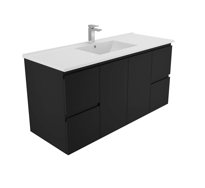 Dallas Bathroom Vanities: Black Finger Pull Ceramic Vanities