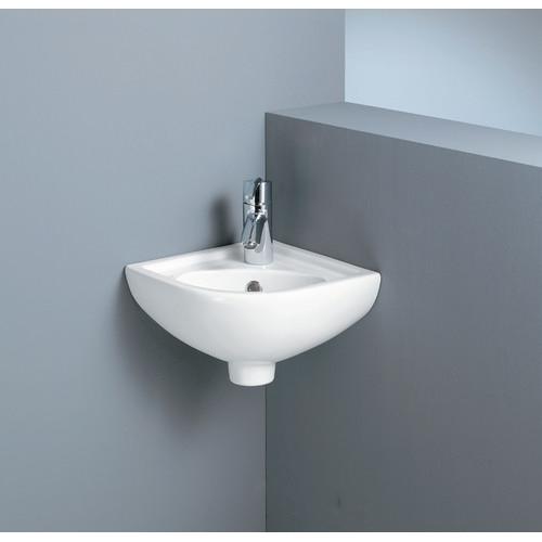 Compact Corner Basin : Compact Corner Basin - Builders Discount Warehouse