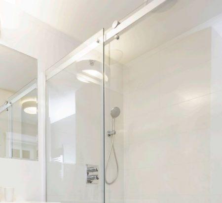 frameless sliding shower fronts