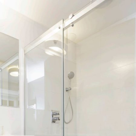 frameless sliding shower fronts