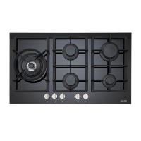 90cm Black Gas Ceramic Cooktop
