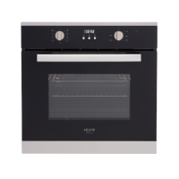 60cm Black Electric Multifunction Oven
