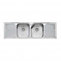 Oliveri Nu-Petite Double Bowl Sink (1550x500mm) No Tap Hole